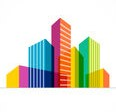 colorful-real-estate-city-skyline-icon-vector-illustration-54386427